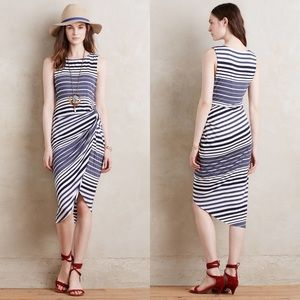 {Bailey/44} Gathered Striped Midi Dress